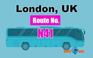 N41 Bus Route Map
